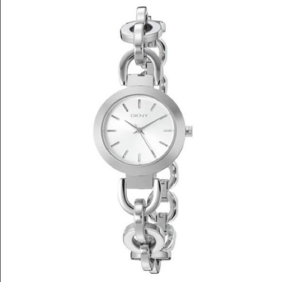 DKNY silver Stanhope silver chain watch